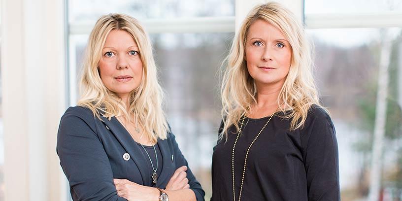 Anna Eklund och Lottis Sparrma, Gasellvinnare och grundare av företaget Happydress.
