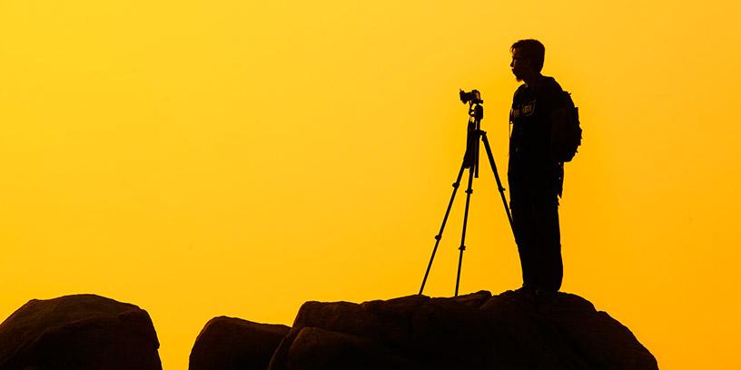 metoder-led-dig-sjalv-fokus-kamera-solnedgang