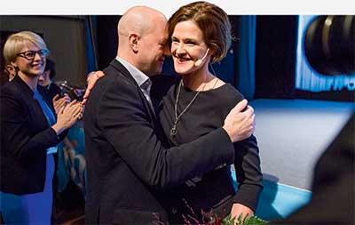 Efter tolv år som partiledare för Moderaterna lämnade Efter tolv år som partiledare för Moderaterna lämnade Fredrik Reinfeldt över taktpinnen till Anna Kinberg Batra förra året.