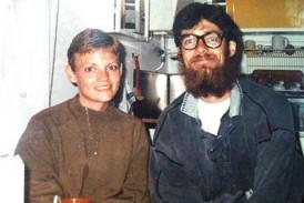 En femton kilo lättare Johan tillsammans med sin fru Susanne, precis hemkomna från första uppdraget i Afghanistan 1989.