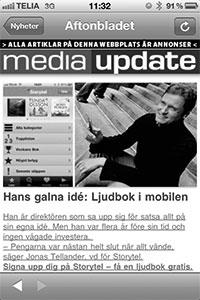 """Aftonbladet skriver om """"den galna entreprenören"""" Jonas Tellander."""