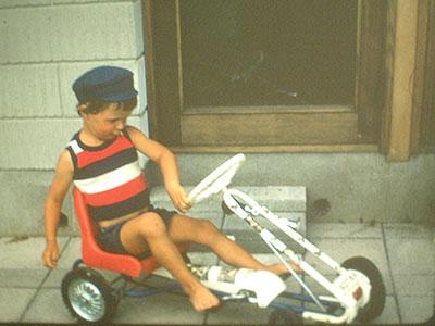 Jonas som barn. Bilden är från 1974 eller 1975.