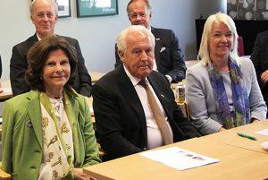 Hälften av Karin Jordås namnkunniga styrelse. Drottning Silvia, Jan Carlzon, Stefan Persson och Thomas Hvid.