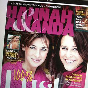 Hannah och Amanda drev under ett par år ett livsstilsprojekt på Aftonbladets webb med bloggar, tidning och webb-tv.