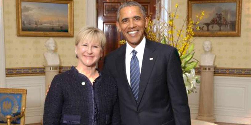 En nedrustningskonferens i Washington gav tillfälle till ett möte med Barack Obama. Foto: White House