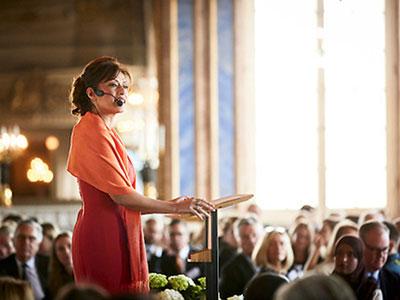 Ett av Azita Shariatis stora ögonblick — på Stockholms slott förra våren.