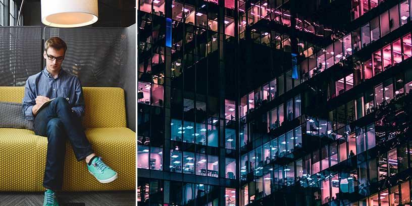 Välkommen till ditt nya kontorsliv. Här finns både mossa, vr och plats att tänka. Det kreativa och koncentrationsinriktade kontoret kommer att slå igenom brett inom fem år, enligt Senabs undersökning Work & Life for the Future.