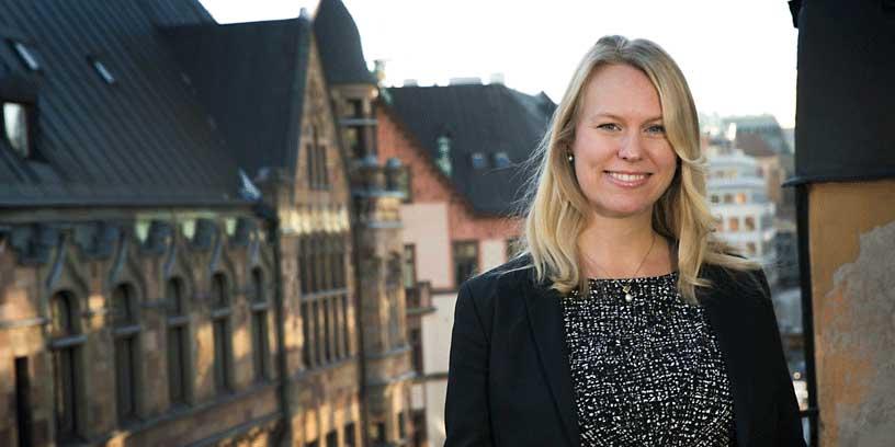 """""""Så många spännande människor går utbildningen och jag har fått ett fantastiskt nätverk"""", säger styrelseledamoten Caroline Lundgren Brandberg om SBS Executive MBA-utbildningen på Stockholms universitet.   Foto: Martina Huber"""