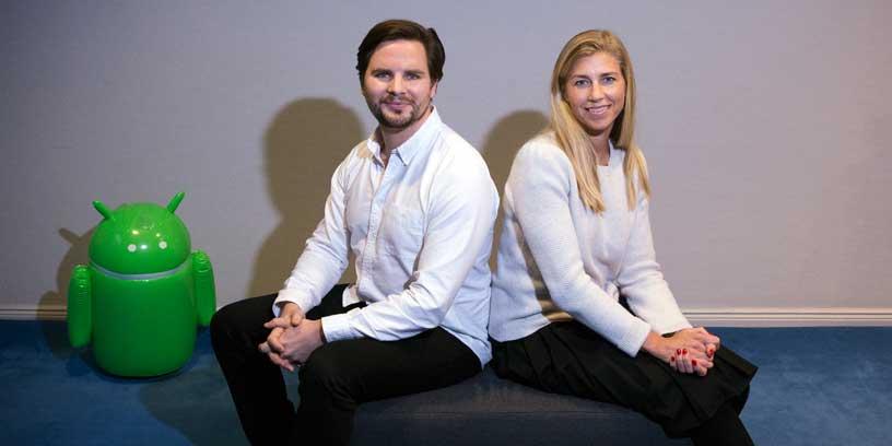 Rekryterare Peter Bånkestad och hr-chef Anna Fredrixon på Truecaller.