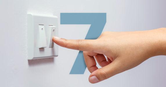 Infográfico | 7 Dicas para poupar eletricidade