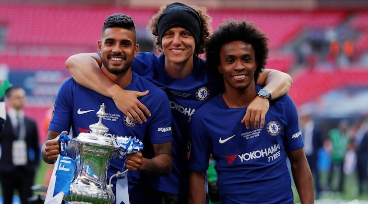 Image result for David Luiz and Willian
