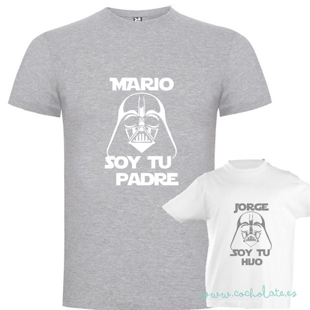 Camisetas a Juego Soy tu padre 5b65f0ee3a07b