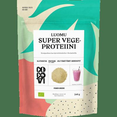 Super Vegeproteiini 240 g – Kasviproteiinisekoitus viherjauheilla (TARJOUSERÄ, PVM. 02.07.19)