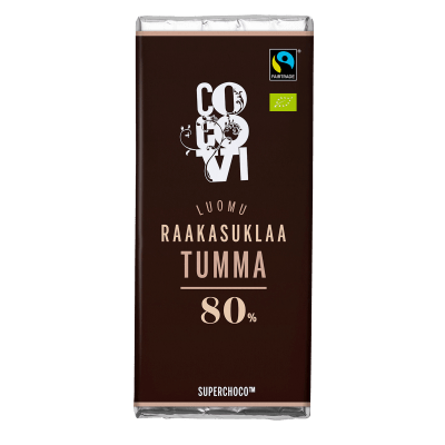Yksityinen: POISTUNUT TUOTE: Raakasuklaa Tumma 80% 30 g