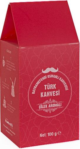 Bayramefendi Osmanlı Kahvecisi - Bayramefendi Osmanlı Kahvecisi Çilekli Türk Kahvesi 100 G