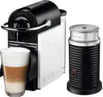 Nespresso - Nespresso Pixie Clips Beyaz Kapsüllü Kahve Makinesi & Aeroccino Bundle
