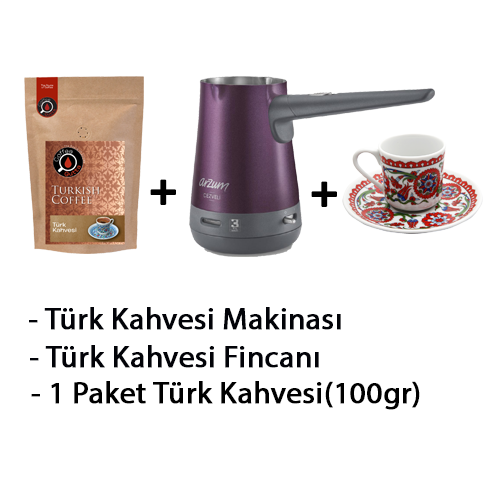 Coffee Gutta - Coffee Gutta Türk Kahve Makinesi + 1 Paket 100 G Türk Kahvesi + Gutta 1 Adet Türk Kahvesi Fincanı