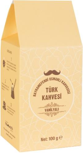 Bayramefendi Osmanlı Kahvecisi - Bayramefendi Osmanlı Kahvecisi Vanilyalı Türk Kahvesi 100 G