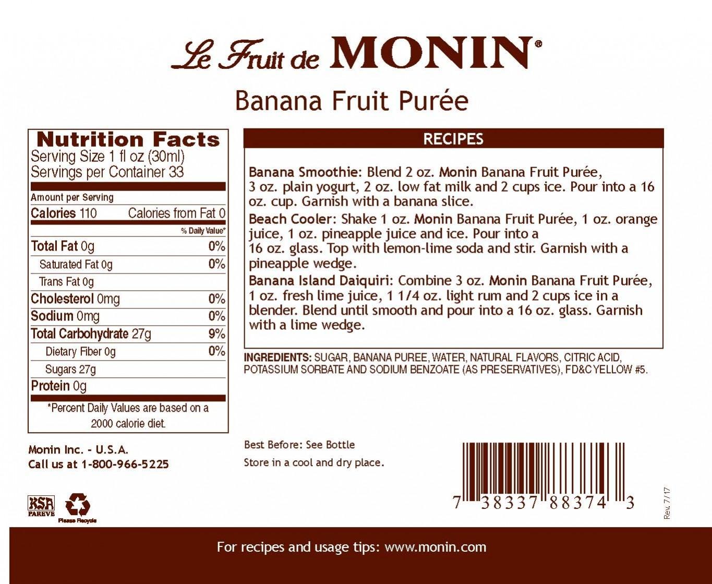 Monin Banana Meyve Püresi 1 L