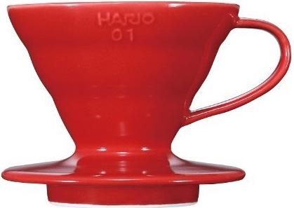 Hario - Hario V60 01 Kırmızı Seramik Dripper