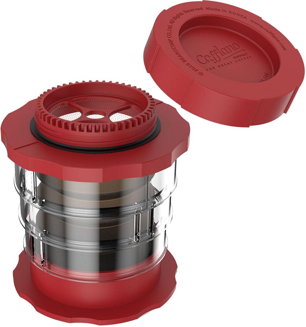 Cafflano - Cafflano Kompact Kırmızı Taşınabilir Kahve Makinesi