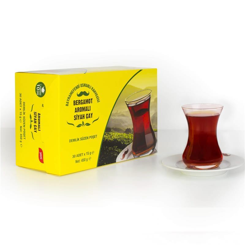 Bayramefendi Osmanlı Kahvecisi Bergamot Aromalı Siyah Çay 30 Poşet