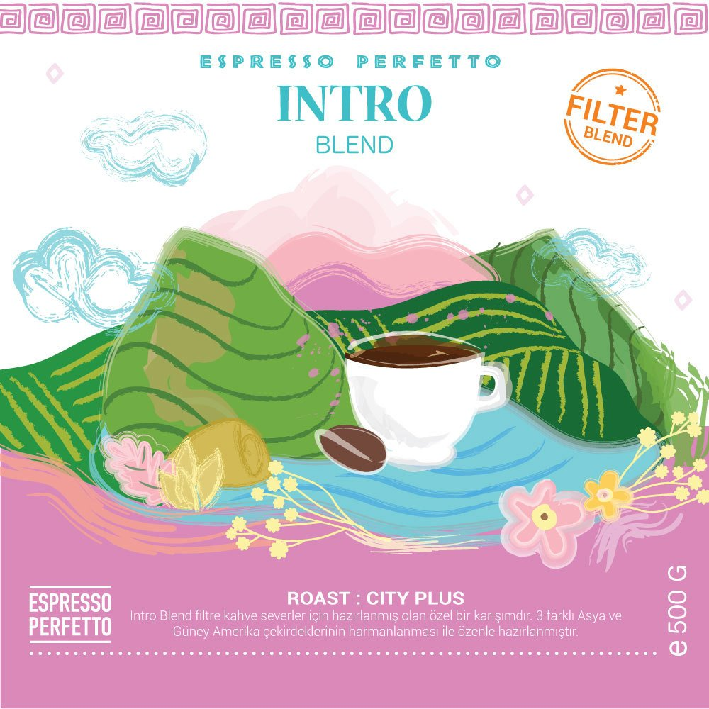 Espresso Perfetto Intro Blend - Filtre Çekirdek Kahve 500 G