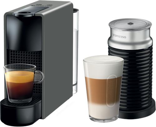 Nespresso - Nespresso Essanza Mini C Gri Kapsüllü Kahve Makinesi & Aeroccino Bundle