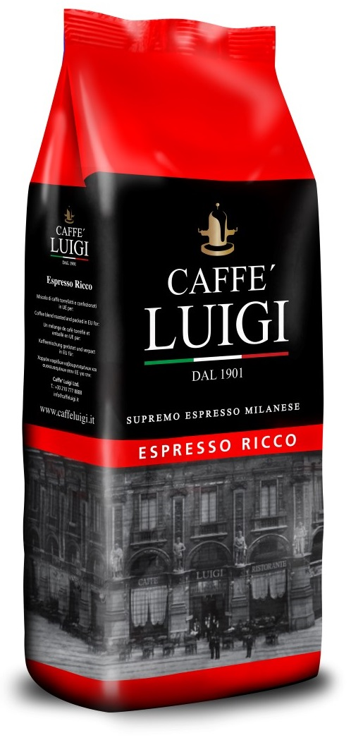 Caffe Luigi - Caffe Luigi Ricco Çekirdek Kahve 1000 G