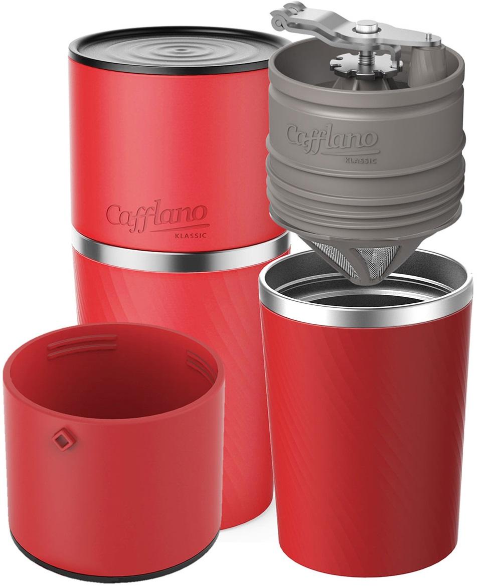 Cafflano - Cafflano Klassic Kırmızı Taşınabilir Kahve Makinesi