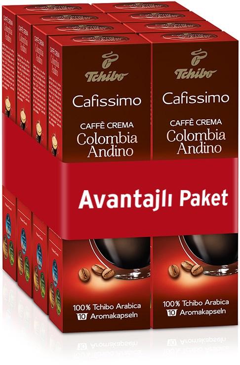 Tchibo - Tchibo Caffe Crema Colombia Kapsül Kahve Avantajlı Paket 80 Adet