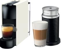 Nespresso - Nespresso Essanza Mini C Beyaz Kapsüllü Kahve Makinesi & Aeroccino Bundle