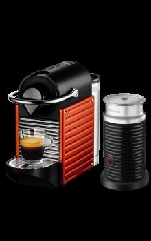 Nespresso Pixie Kırmızı Kapsüllü Kahve Makinesi & Aeroccino Bundle