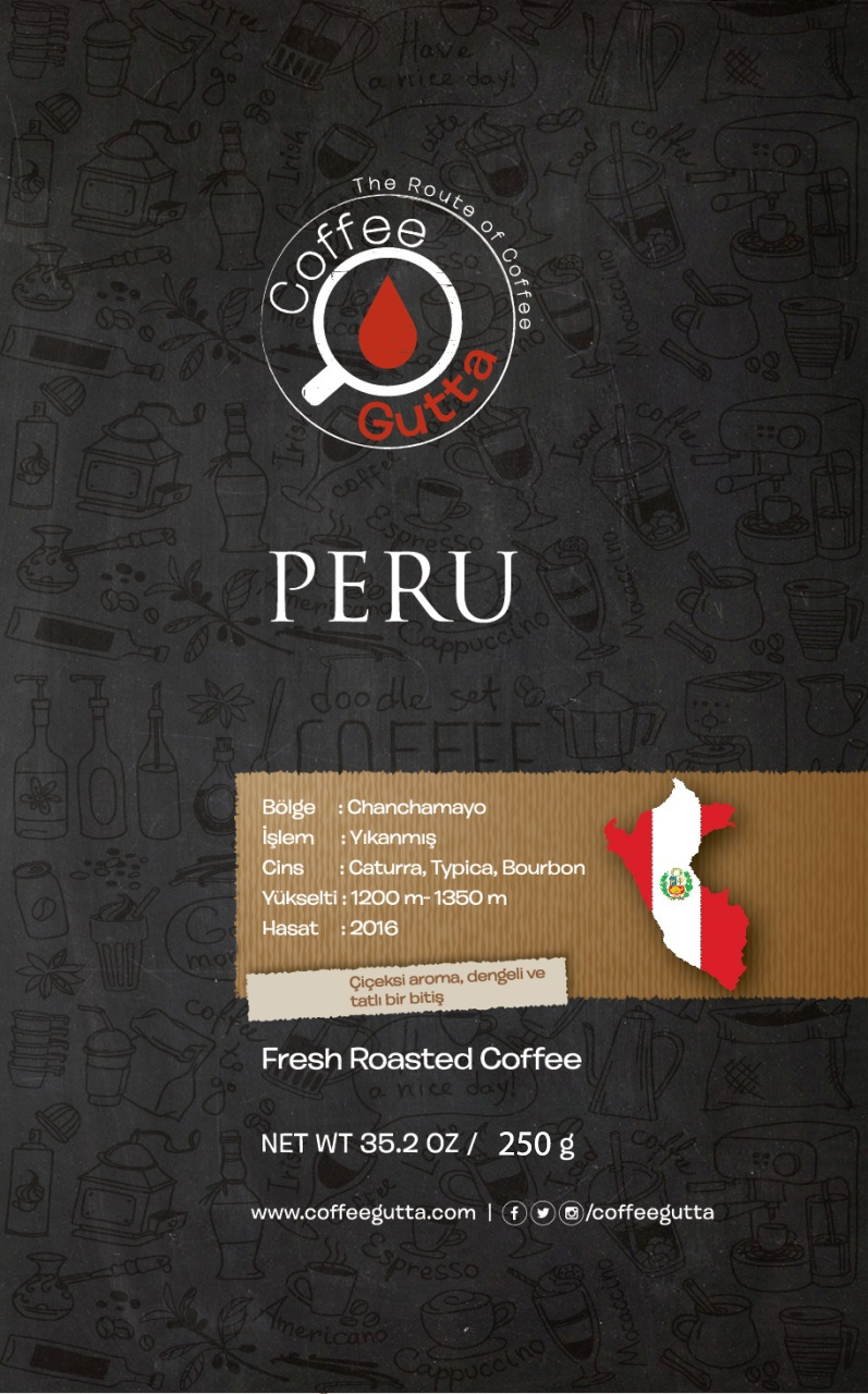 Coffee Gutta - Coffee Gutta Peru Chanchamayo Kahve 250 G