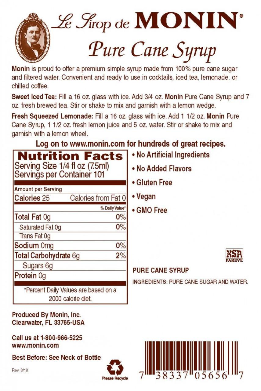 Monin Pure Cane Şurup 0.7 L