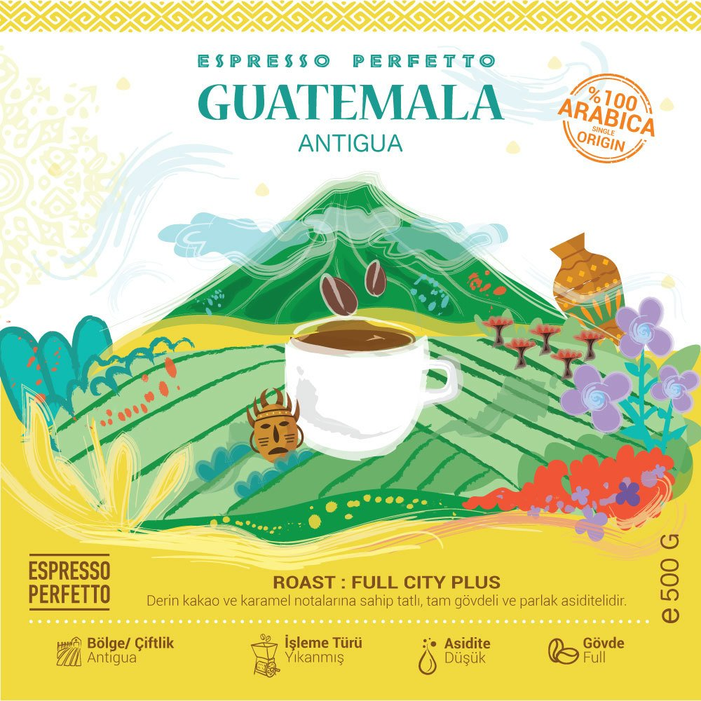 Espresso Perfetto - Espresso Perfetto Guatemala Antigua Çekirdek Kahve 500 G