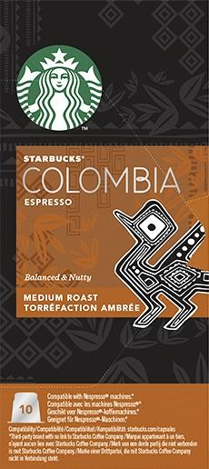 Starbucks Colombia Espresso Kapsül Kahve 10 Adet