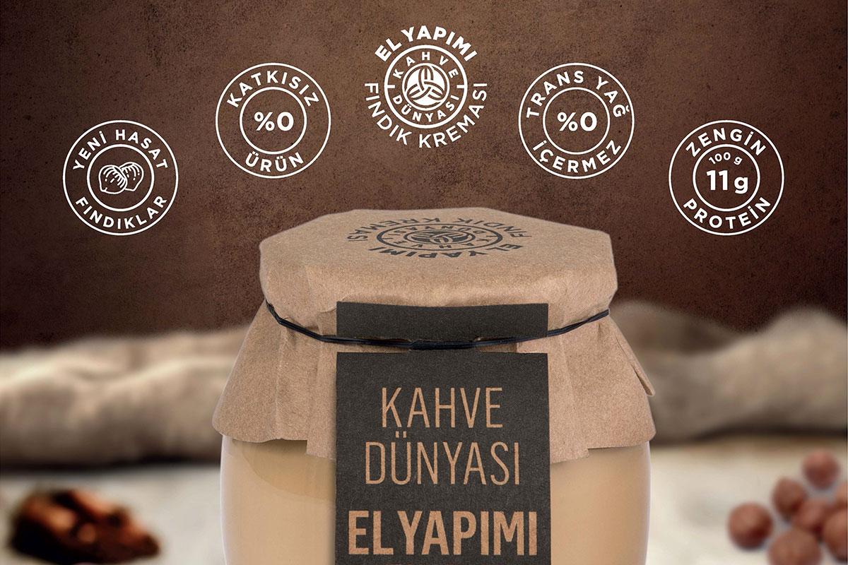 Kahve Dünyası'ndan Yeni Lezzet: El Yapımı Fındık Kreması