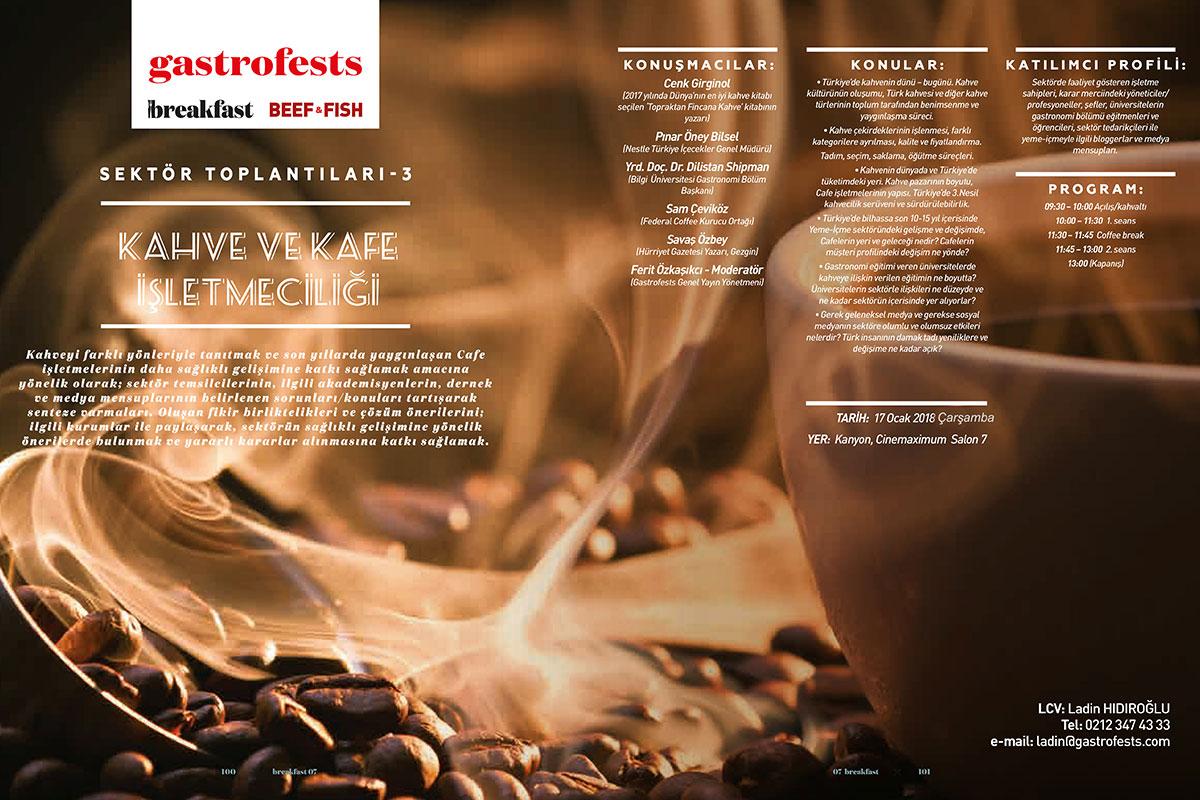 Gastrofests Sektörel Kahve Toplantısından Öne Çıkanlar
