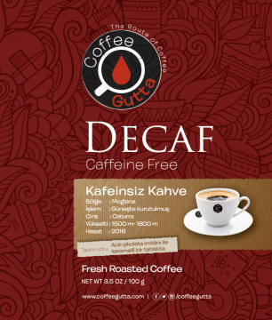 Coffee Gutta - Coffee Gutta Decaf Kafeinsiz Kahve 250 G