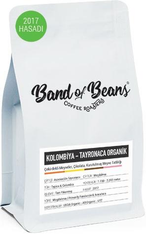 Band of Beans - Band of Beans Kolombiya Tayronaca Organik Kahve 250 G