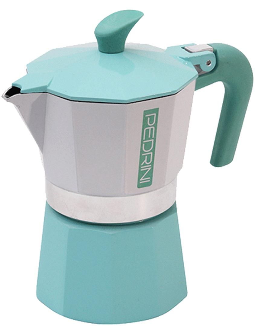 Pedrini - Pedrini Kaffet-Vintage 3 Cup Mavi Moka Pot