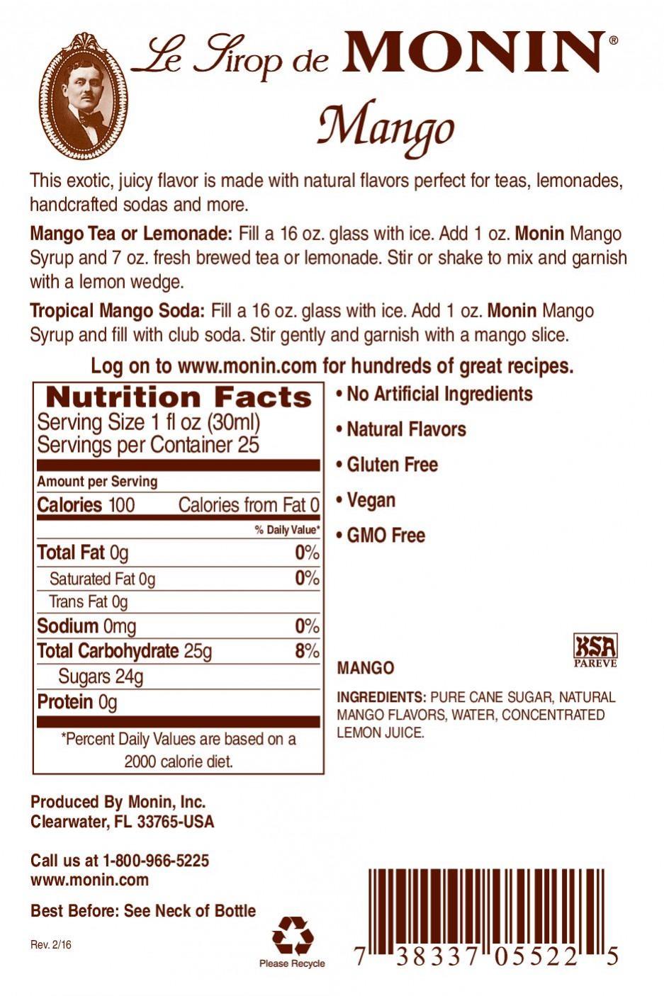 Monin Mango Şurup 0.7 L