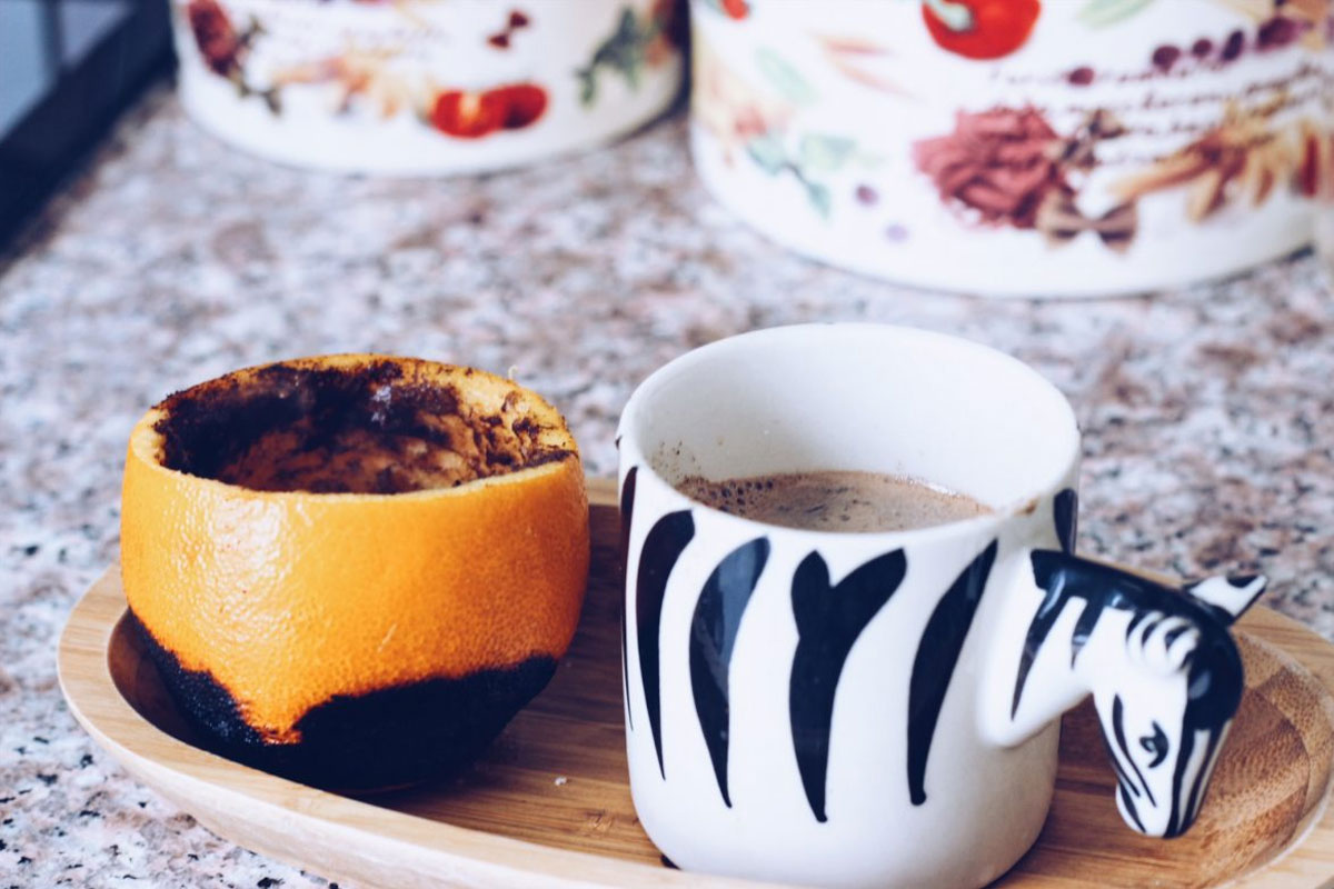 Portakal İçinde Pişen Türk Kahvesi