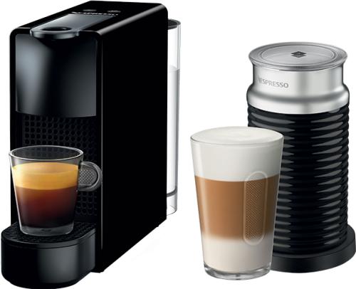 Nespresso - Nespresso Essanza Mini C Siyah Kapsüllü Kahve Makinesi & Aeroccino Bundle