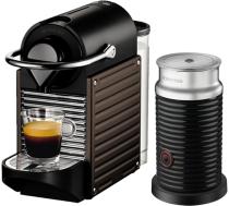 Nespresso - Nespresso Pixie Siyah Kapsüllü Kahve Makinesi & Aeroccino Bundle