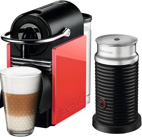 Nespresso - Nespresso Pixie Clips Kırmızı Kapsüllü Kahve Makinesi & Aeroccino Bundle