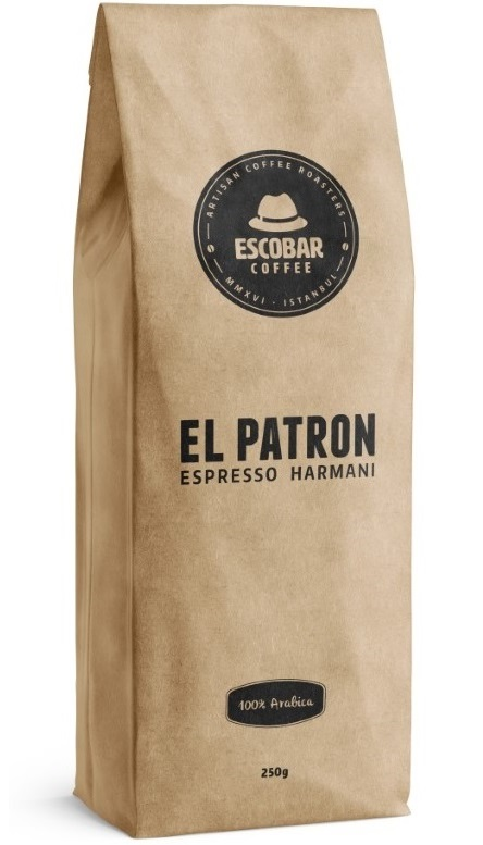 Escobar Coffee - Escobar Coffee El Patron Espresso Harmanı Kahve 250 G