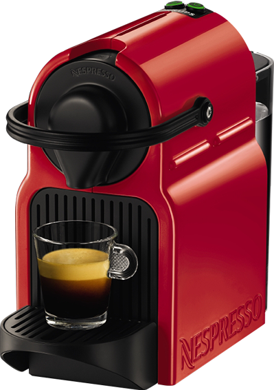 Nespresso - Nespresso Inissia Kırmızı Kapsüllü Kahve Makinesi
