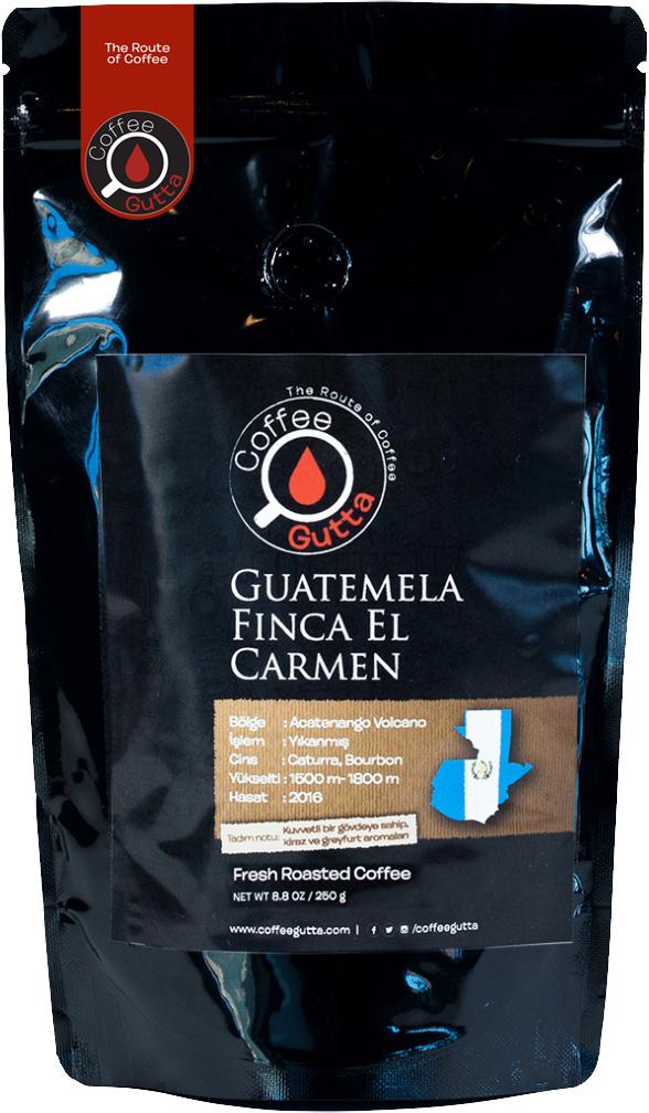 Coffee Gutta - Coffee Gutta Guatemela Finca El Carmen Kahve 250 G